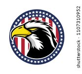bald eagle and the flag of the... | Shutterstock .eps vector #1107310952