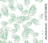 beautiful palm leaves.... | Shutterstock . vector #1107313832