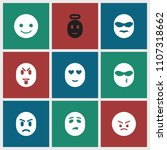 emotion icon. collection of 9... | Shutterstock .eps vector #1107318662