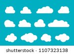 clouds silhouettes. vector set... | Shutterstock .eps vector #1107323138