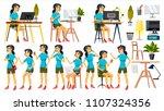 office worker vector. woman.... | Shutterstock .eps vector #1107324356