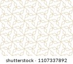 pattern with crossing thin... | Shutterstock .eps vector #1107337892