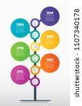 vertical timeline infographics. ... | Shutterstock .eps vector #1107340178