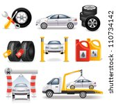 auto service set | Shutterstock .eps vector #110734142