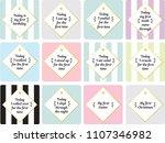neutral milestone card baby... | Shutterstock .eps vector #1107346982
