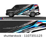 cargo van graphic vector.... | Shutterstock .eps vector #1107351125