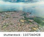 zanzibar from above          Shutterstock . vector #1107360428