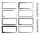 set of black grunge linear... | Shutterstock .eps vector #1107361712