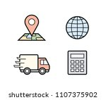 parcel delivery icons. fast... | Shutterstock .eps vector #1107375902