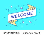 welcome. vintage ribbon banner...   Shutterstock .eps vector #1107377675