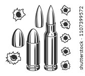 vintage bullets and bullet... | Shutterstock .eps vector #1107399572