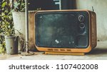 old portable television     Shutterstock . vector #1107402008