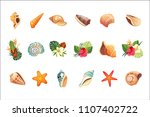 realistic tropical icons set | Shutterstock .eps vector #1107402722
