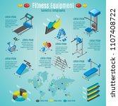 isometric fitness equipment... | Shutterstock .eps vector #1107408722
