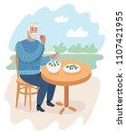 vector cartoon illustration of... | Shutterstock .eps vector #1107421955