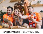 young man pointing by hand and...   Shutterstock . vector #1107422402