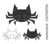 vector paper japanese crabs for ...   Shutterstock .eps vector #1107430706
