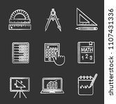 mathematics chalk icons set....   Shutterstock .eps vector #1107431336