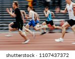 final running men sprinters... | Shutterstock . vector #1107437372