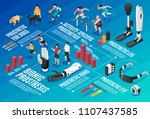 innovative bionic body parts... | Shutterstock .eps vector #1107437585