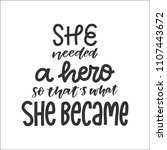 vector hand drawn feminism... | Shutterstock .eps vector #1107443672