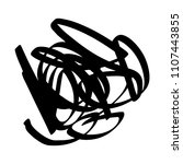 black marker random irregular... | Shutterstock .eps vector #1107443855