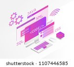 web development isometric... | Shutterstock .eps vector #1107446585