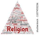 vector conceptual religion  god ...   Shutterstock .eps vector #1107453236