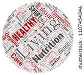 vector conceptual healthy... | Shutterstock .eps vector #1107454346