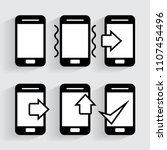 phone icon in trendy style...