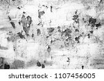 grunge white metal wall with... | Shutterstock . vector #1107456005