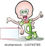 vector illustration of a worker ... | Shutterstock .eps vector #110745785