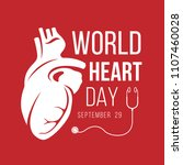 world heart day banner with... | Shutterstock .eps vector #1107460028