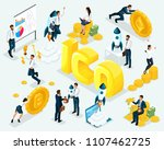 isometric business concept ico... | Shutterstock .eps vector #1107462725