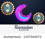 ramadan kareem islamic greeting ... | Shutterstock .eps vector #1107464072