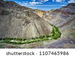 aerial shot of river charyn in... | Shutterstock . vector #1107465986