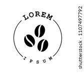 coffee beans  hipster logo... | Shutterstock .eps vector #1107497792