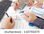analyzing data  closeup of...   Shutterstock . vector #110750375