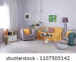 elegant living room interior...   Shutterstock . vector #1107505142