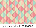 abstract mint and red triangles ... | Shutterstock .eps vector #1107514586
