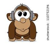 - stock-vector-funny-cartoon-monkey-with-headphones-listening-to-music-vector-illustration-110752196