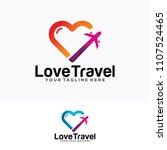 travel plane logo design | Shutterstock .eps vector #1107524465