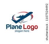 travel plane logo design | Shutterstock .eps vector #1107524492