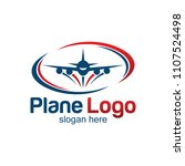 travel plane logo design | Shutterstock .eps vector #1107524498