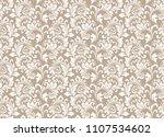 floral pattern. vintage... | Shutterstock .eps vector #1107534602