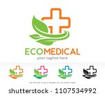 eco medical logo symbol... | Shutterstock .eps vector #1107534992
