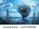a strange and mysterious... | Shutterstock . vector #1107540038