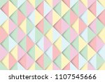 colorful triangles seamless... | Shutterstock .eps vector #1107545666