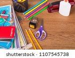 assortment of back to school... | Shutterstock . vector #1107545738