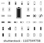 full status battery icons....   Shutterstock .eps vector #1107549758